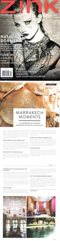 Zink Magazine - Marrakech moments - September 2013