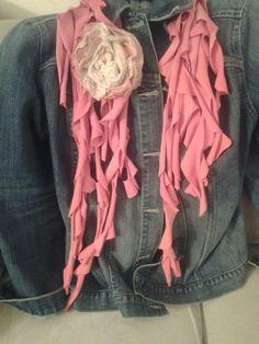 Upcycled tshirt scarf