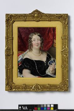 Portrait of Margaret, Duchess of Somerset    Object:  Miniature    Place of origin:  England, Great Britain (probably, painted)    Date:  ca. 1840 (painted)