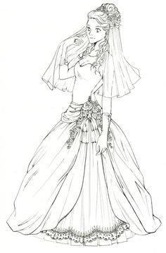Lines - Wedding Dress Michiru by nao--ren Deviantart