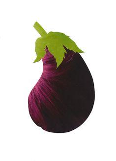 Elies Thijs #vegetable #collage #eggplant #aubergine