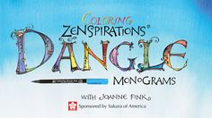 Zenspirations founder and calligrapher Joanne Fink gives creative monogram coloring techniques using Koi Coloring Brush pens. Learn how to blend hues using these versatile, watercolor markers.