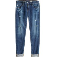 ADRIANO GOLDSCHMIED Nikki 11 Year Distressed Skinny Jean (2.910 ARS) ❤ liked on Polyvore featuring jeans, pants, bottoms, trousers, cuffed boyfriend jeans, destroyed jeans, blue skinny jeans, boyfriend jeans and ripped jeans