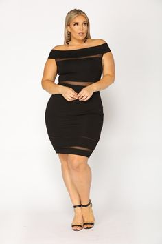 bcf71a3f9db Plus Size Side To Side Dress - Black  29.99  fashion  ootd  outfit