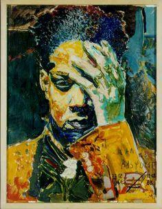 ✯ Portrait of a Black Woman :: Artist Jean Michel Basquiat ✯ this is a unique Basquiat, is it not?