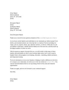 Email thank you letter examples for donors pinterest letter example expocarfo Gallery