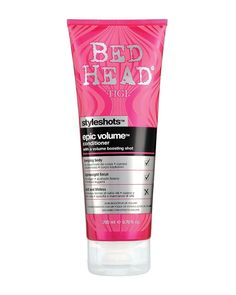 BedHead Style Shots Epic Volume Conditioner is designed to give a thick, voluptuous body to your hair making it more mouldable when styling. The conditioner which is saturated with a shot of volume boosters works to give you an enviable body from root to tip leaving your hair smooth and shiny. Bed Head Style Shots Epic Volume Conditioner is a great choice if your heair is craving a boost and looking a little limp. Get your style to new heights by applying the conditioner to your damp hair…
