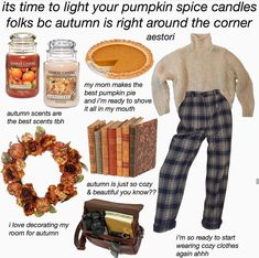 Best Vintage Outfits Part 12 Pumpkin Spice Candle, Best Pumpkin Pie, Aesthetic Memes, Aesthetic Clothes, Outfits Otoño, Fall Outfits, Mode Grunge, Fall Scents, Autumn Cozy
