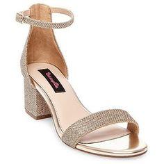 e55a81e01f4 Women s Betseyville Honey Glitter Mesh Block Heel Sandals