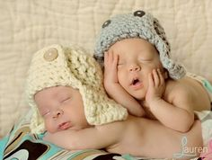 Twin Aviator photo hats