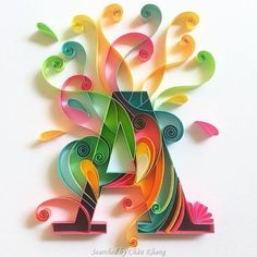 ©Sabeena Karnik- ABCs quilling (Searched by Châu Khang)