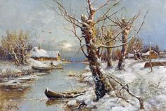 Ressam Julius Sergius von Klever , (1850 - 1924) Leningrad.  Alman Baltık ebeveynlerinin bir Rus peyzaj sanatçısı.  K...