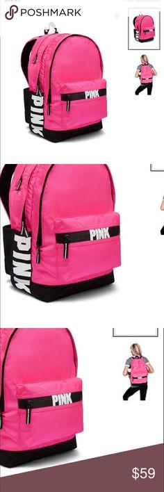 NIP VS PINK CAMPUS BACKPACK NIP VS PINK CAMPUS BACKPACK PINK BLACK PINK Victoria's Secret Bags Backpacks
