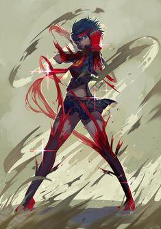 Kill la Kill, Ryuuko, by nanaya (daaijianglin)