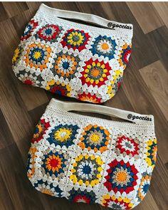 Bolsas de crochê – Knitting patterns, knitting designs, knitting for beginners. Crochet Wallet, Crochet Tote, Crochet Handbags, Crochet Purses, Love Crochet, Crochet Gifts, Knit Crochet, Crochet Shell Stitch, Knitting Designs