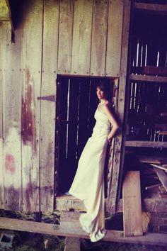 bride in the barn :)