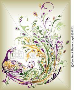 Vector - Pavo real - stock de ilustracion, ilustracion libre de, stock de iconos de clip art, logo, arte lineal, retrato de EPS, Retratos, gráficos, dibujos gráficos, dibujos, imágenes vectoriales, trabajo artístico, Arte Vectorial en EPS