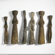 TOMB FIGURES, Han Dynasty, 206BC - 220AC China (10) sold by Sotheby's, New York, on Tuesday, March 22, 2011