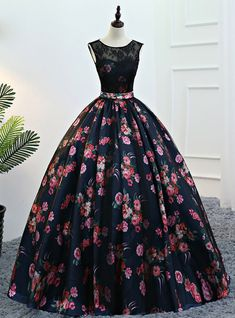 Black lace long prom dress, black evening gown for prom 2019 African Prom Dresses, Prom Dresses 2018, Long Prom Gowns, Quinceanera Dresses, Ball Dresses, Beautiful Prom Dresses, Elegant Dresses, Pretty Dresses, Formal Dresses