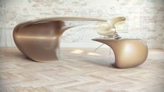 Office Combination From Trendy Nebbessa Tables Also Chair By Nuvist Under Neutral Color Finished Among Futuristic Style As Inspiration Office Desk Ideas with Great Colors