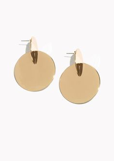 & Other Stories Graphic Earrings in Gold
