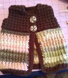 Baby Girl Toddler crocheted sweater Vest by mollymalone5 on Etsy, $12.00