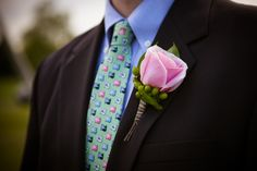 Navy & Pink Nautical Themed Wedding