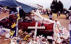 Rachel Joy Scott was obviously so loved. The memorials on the vehicles were so sad and devastating.