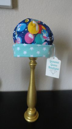 Reversible Cosmic Party & Mint Star Hat by GemmaGemsBoutique on Etsy