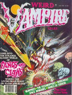 Weird Vampire Tales 5 (Jan Eerie Publications) for sale online Sci Fi Comics, Comics Story, Horror Comics, Horror Tale, Famous Monsters, Comic Book Covers, Comic Books, Classic Comics, Pulp Fiction