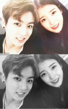 Jungkook and IU Pretending To Be Happy, Kpop Couples, Back Off, Just Girl Things, K Beauty, Kpop Aesthetic, Bts Jungkook, Korean Actors, Korean Drama