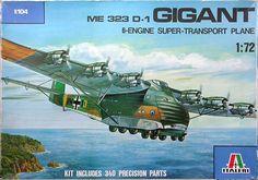 Messerschmitt Me 323 Gigant | Messerschmitt Me 323 D-1 Gigant, Italeri 104 (1980) ~ BFD