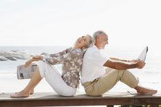 Social Secutiry Older Couple Smiling