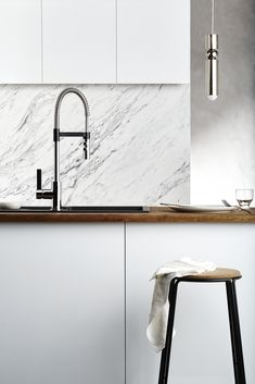The Gaston sink mixer that was designed to enhance not only the kitchen space but the user experience.