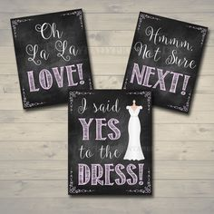 Yes To The Dress Signs Paddle Instant Bridal Wedding Sign Ping Bride Be