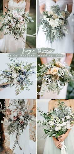 trending sage green bridal wedding bouquets ideas wedding bouquet Trending: 30 Silver Sage Green Theme Wedding Ideas that You Can't Miss Wedding Flower Guide, Floral Wedding, Green Wedding Flower Ideas, Green Wedding Flower Arrangements, Green Wedding Centerpieces, Neutral Wedding Colors, Sage Green Wedding, Wedding Table, Wedding Boquette