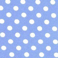 Bomuldsjersey med prikker, lyseblå