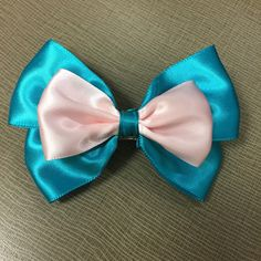 A personal favorite from my Etsy shop https://www.etsy.com/listing/228393333/blue-and-pink-hair-bow