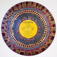 Sara Roizen Mandalas on Vinyl Records #reuse