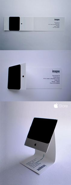 Apple iMac Business Card | #Business #Card #letterpress #creative #paper #businesscard #corporate #design #corporatedesign