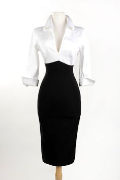 Love this for work attire! Pinup Girl Clothing- Lauren Dress in White and Black Vintage Outfits, Vintage Fashion, Sexy Vintage Dresses, Pinup Girl Clothing, Elegantes Outfit, Business Outfit, Vintage Mode, Mode Outfits, Looks Style