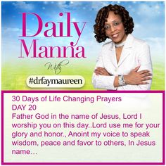 Daily Manna #204 THIRTY DAYS OF LIFE CHANGING PRAYERS DAY 20