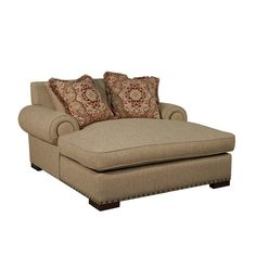 Double Wide Chaise Lounge Indoor With 2 Cushions | Chaise lounge ...
