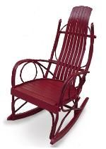 Amish handmade rocking chair. Mine is natural, not painted red.  Inherited it from my Mama.