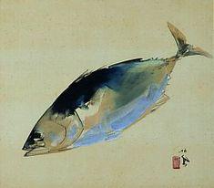 松魚 by 竹内栖鳳 pine fish by Takeuchi Seiho. Japanese Nature, Fish Print, Japanese Painting, Japanese Artists, Woodblock Print, Chinese Art, Traditional Art, Asian Art, Drawings