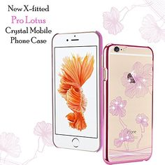 X-Fitted Apple iPhone Case, Lotus Hard Plastic Rhinestone Decoration Bling with Diamond Ultrasonic Embedded Craft for Apple iPhone (Pink) Apple Iphone 6s Cover, Iphone Case Covers, Latest Electronic Gadgets, Amazon Mobile, Crystal Mobile, Mobile Covers, Mobile Phone Cases, Mobile Accessories, Lotus