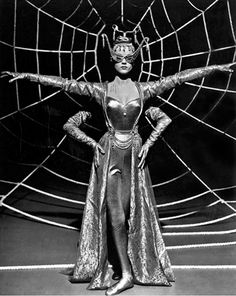 """Via bizarrelosangeles : ANNE FRANCIS Quote _ """" Of course, I don't like being the vamp, but sexy roles are the plums these days."""" _ Anne Francis in Susan Slept Here Costume Halloween, Spider Costume, Circus Costume, Halloween Pictures, Old Photos, Vintage Photos, Anne Francis, Ziegfeld Follies, Louise Brooks"""