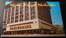 Vintage Postcard Woolworth  Star Largest Denver Colorado