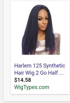 Harlem 125, Yaki Hair, Synthetic Hair, Wig Hairstyles, Wigs, Lace Front Wigs