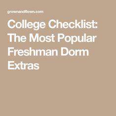 College Checklist: The Most Popular Freshman Dorm Extras